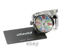 Gaga Milano Manuale Slim 46 5080.1 Petites Secondes Quartz Men's Watch 558542