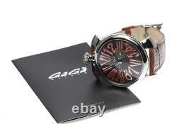 Gaga Milano Manuale Slim 46 5084.2 Gris Dial Quartz Montre Homme 552027
