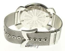Gaga Milano Manuale Slim 46mm 5080.1 Silver Dial Quartz Homme 542029