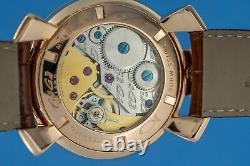 Gagà Milano Manuale Unisex Mechanical Watch 48mm Rose Gold
