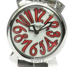 Gaga Milano Manuale40 5020.10 Coque Blanche Cadran Quartz Ladies Watch 609103
