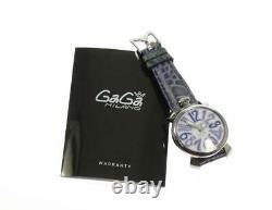 Gaga Milano Manuale40 5020.3 Coquille Blanche Dial Quartz Ladies Watch 578346