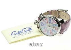 Gaga Milano Manuale40 5020.7 Coquille Blanche Dial Quartz Ladies Watch 578778