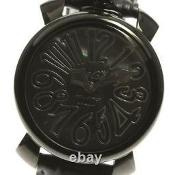 Gaga Milano Manuale40 5022 Coque Noire Cadran Quartz Ladies Montre 577233