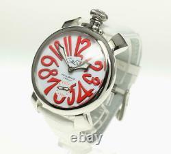 Gaga Milano Manuale48 5010.14s White Dial Hand Winding Men's Watch 537994