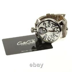 Gaga Milano Manuale48 5010art. 01s Collection D'art Crâne Main Winding Homme 625320