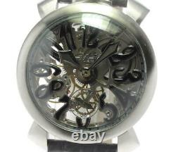 Gaga Milano Manuale48 5310.02 Squelette Squelette Dial Hand Winding Men's 601796