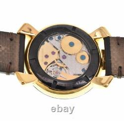 Gaga Milano Manuale48 Beverly Hills 5014. C'est Le. Bh Hand Winding Men's Watch R#100455