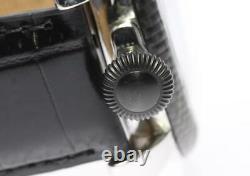 Gaga Milano Manuale48mm 5015s Noir De Carbone Cadran Main Enroulement Montre Homme 558267
