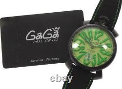 Gaga Milano Manuale48mm 5016.11s Cadran Vert Main Liquidation Montre 560763 Hommes