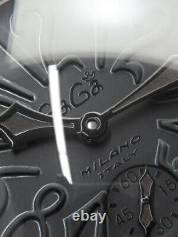 Gaga Milano Manuare 48mm Ref. 5012.02s Enroulement Manuel Pour Homme Noir Retrouvé