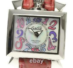 Gaga Milano Napoleone 6030.7 Coquille Blanche Dial Quartz Ladies Watch 538396