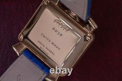 Gagà Milano Quartz Montres Baby Napoleone Bleu Bracelet 30mm Rose Or Plaqué 6036.04