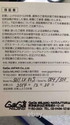 Gaga Milano World Limited 300 Pièces S-gg-5011-lasvegas-02 N° 004/300
