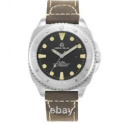 Giorgio Milano 952st033 Acier Inoxydable Marron Leather Automatic Watch Box Paper