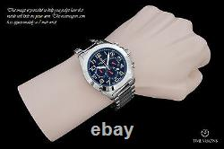 Giorgio Milano 972 Blue Dial Quartz Chronograph Montre Bracelet En Acier Inoxydable