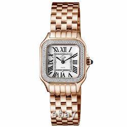 Gv2 Par Gevril Women's 12101b Milan Diamond Rose-gold Ip Steel Watch