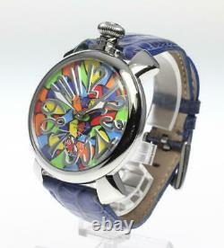 Manuel Gaga Milano48 5010. Mosaico1 Multicolore Dial Hand Winding Homme 604021