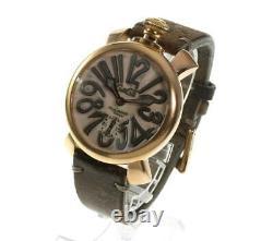 Manuel Gaga Milano48 5011. Vintage Beige Dial Hand Winding Men's Watch 565352