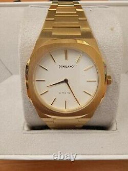 Nouveau Avec Tags D1 Milano Gold & Blanc Avec Box