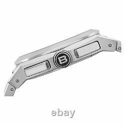Nouveau Breil Milano Tw0690 Chronographe Analogique Homme Silver Ss Bracelet Sports Watch