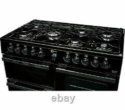 Nouveau Flavel Milano 100 Mln10frk Dual Fuel Range Cooker Noir Et Chrome