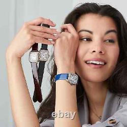 Nouveau Gv2 Gevril Milan Limited Edition Swiss Made Diamond Bracelet En Cuir Rose Or