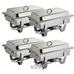 Olympia S299 Milan Set Of Four Chafing Dishes (boxed New)