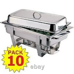 Pack 10 Milan Stainless Steel Chafing Dish Sets Free Next Day Delivery