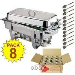 Pack 8 Milan Stainless Steel Chafing Dish Sets Free Next Day Delivery