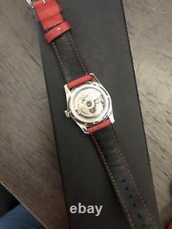 Seiko Montre Noire Pour Homme Sarb033 + Bracelet De Montre Milano Rouge Italien 20mm Pas De Boîte